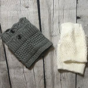 Set of footless boot socks/leg warmers